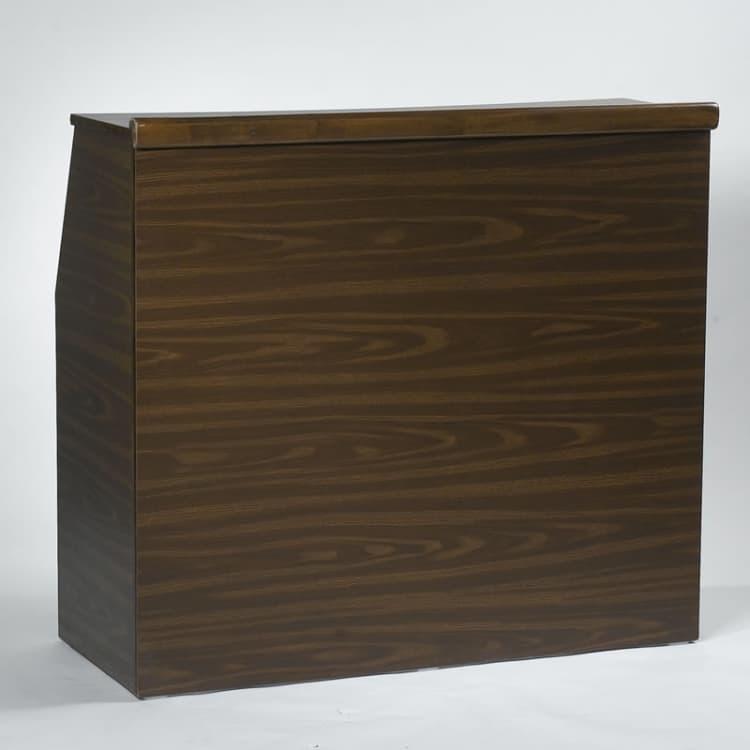 6' Brown Portable Bar