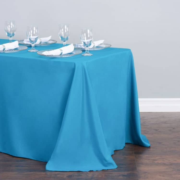 90 x 132 in. Rectangular Polyester Tablecloth