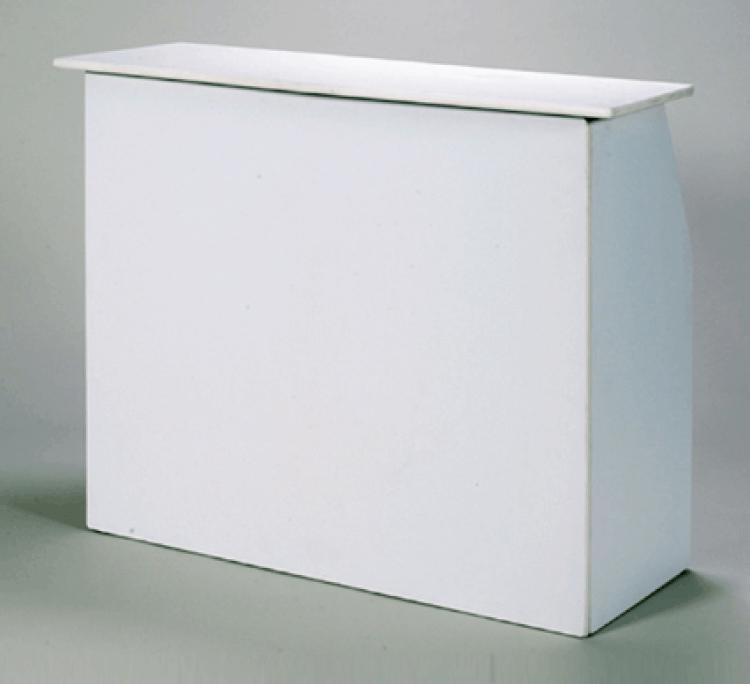 6' White Portable Bar