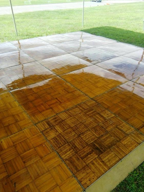 20x20 Wood Dance Floor
