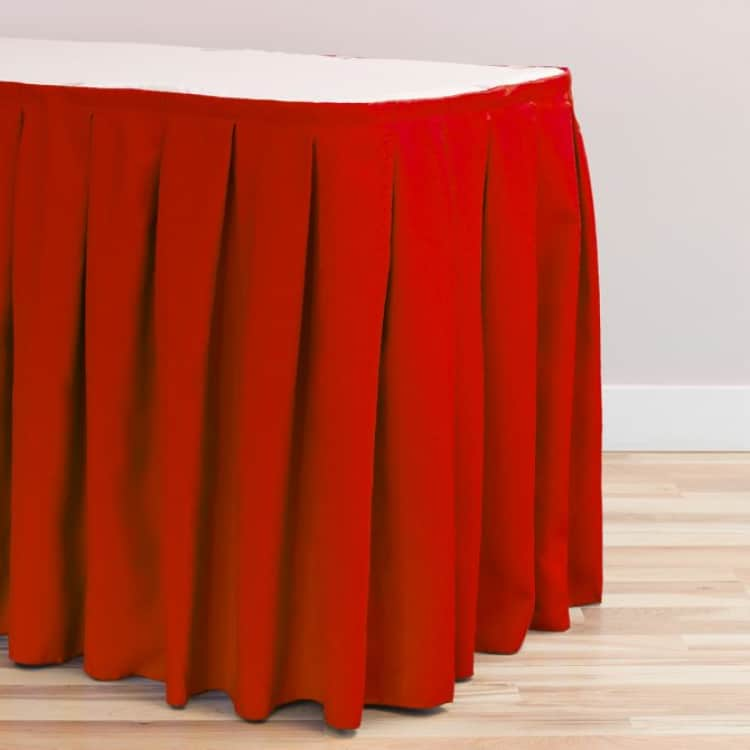 21 ft. Accordion Pleat Polyester Table Skirt