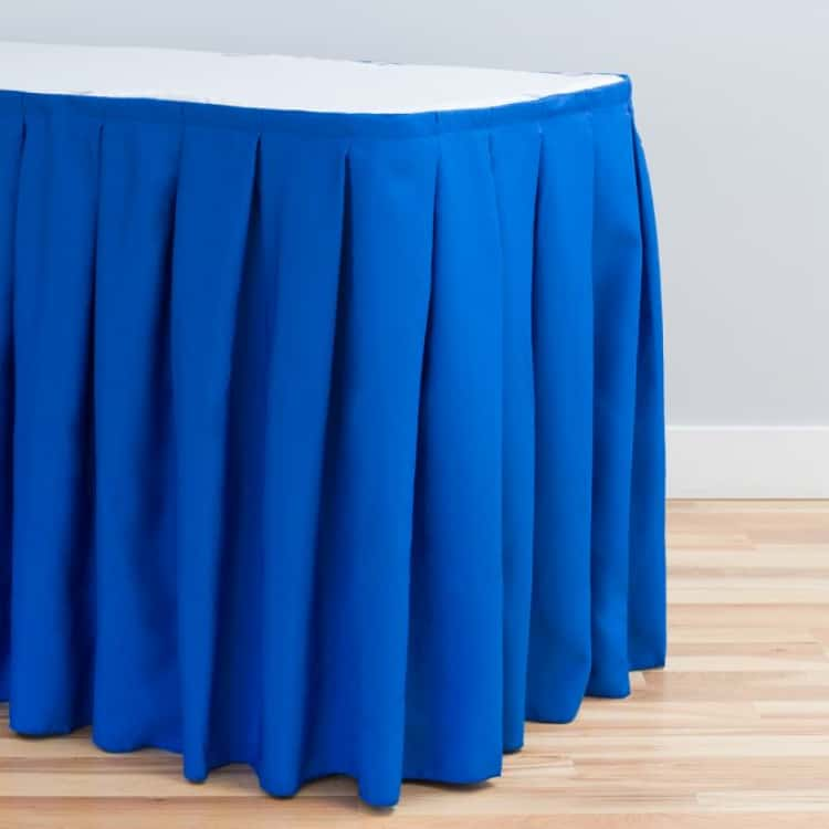 14 ft. Accordion Pleat Polyester Table Skirt